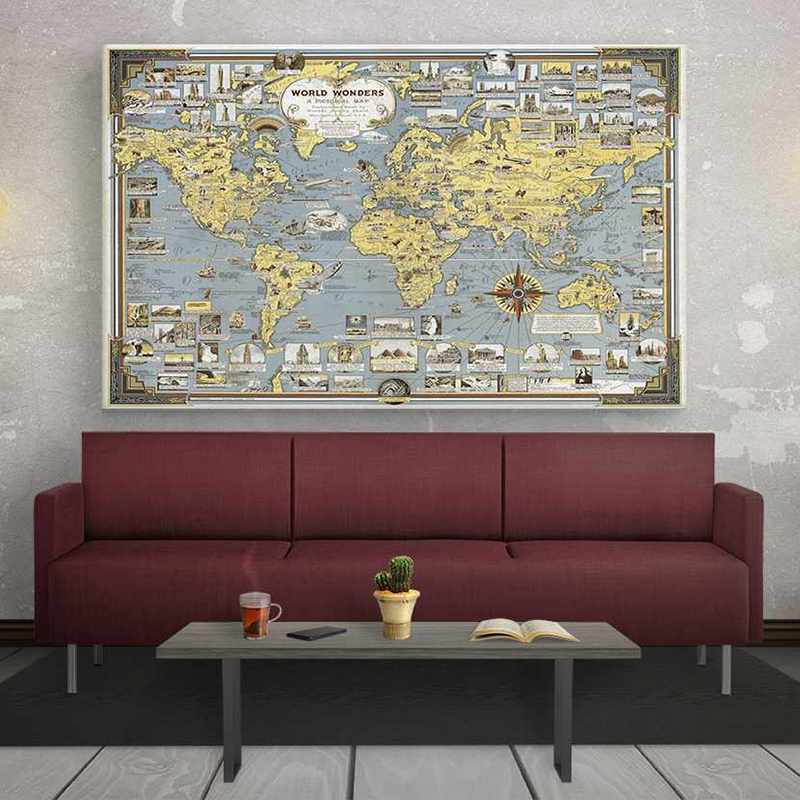 Vintage World Map #3