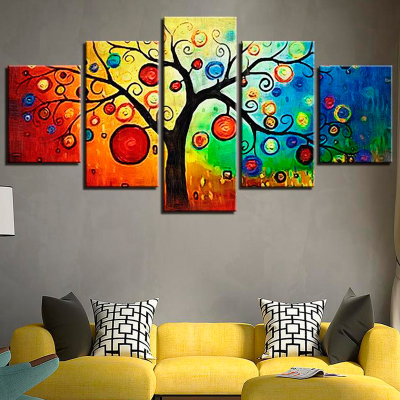 Colorful Money Tree Canvas