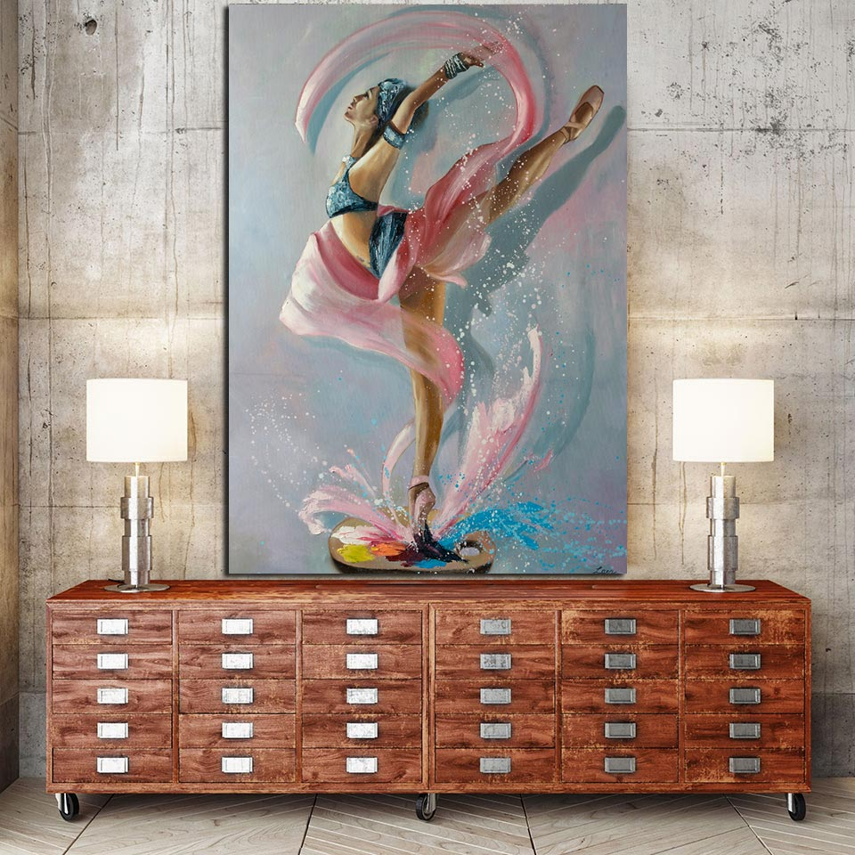 1 Panel Colorful Ballerina